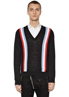 Dsquared2 Striped Cotton Knit Sweater
