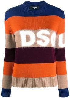 Dsquared2 striped wool blend logo jumper