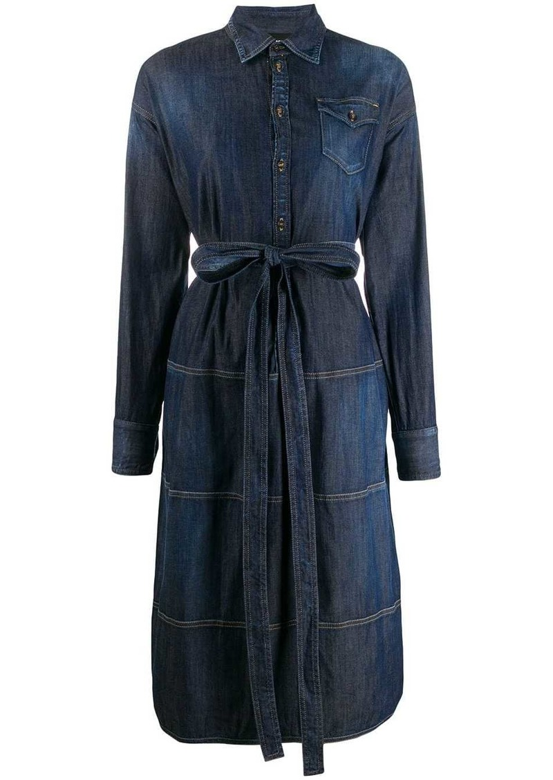 Dsquared2 structured shirt denim dress