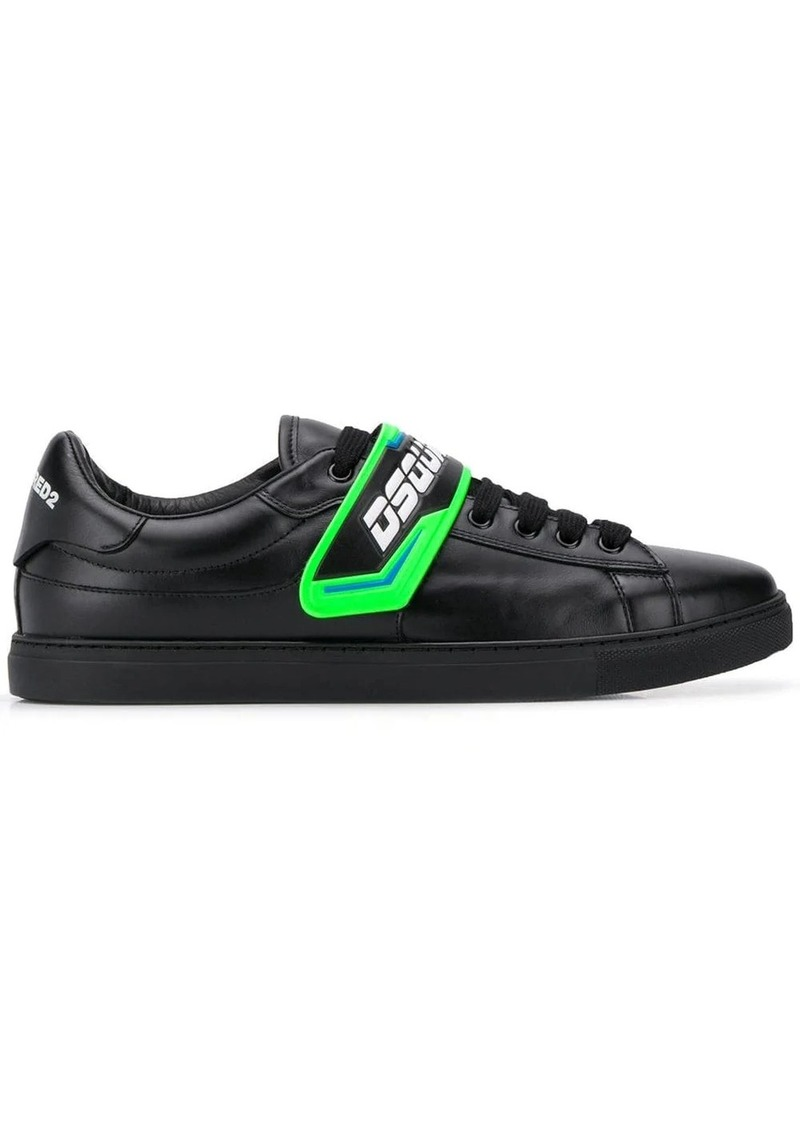 Dsquared2 T-strap logo sneakers