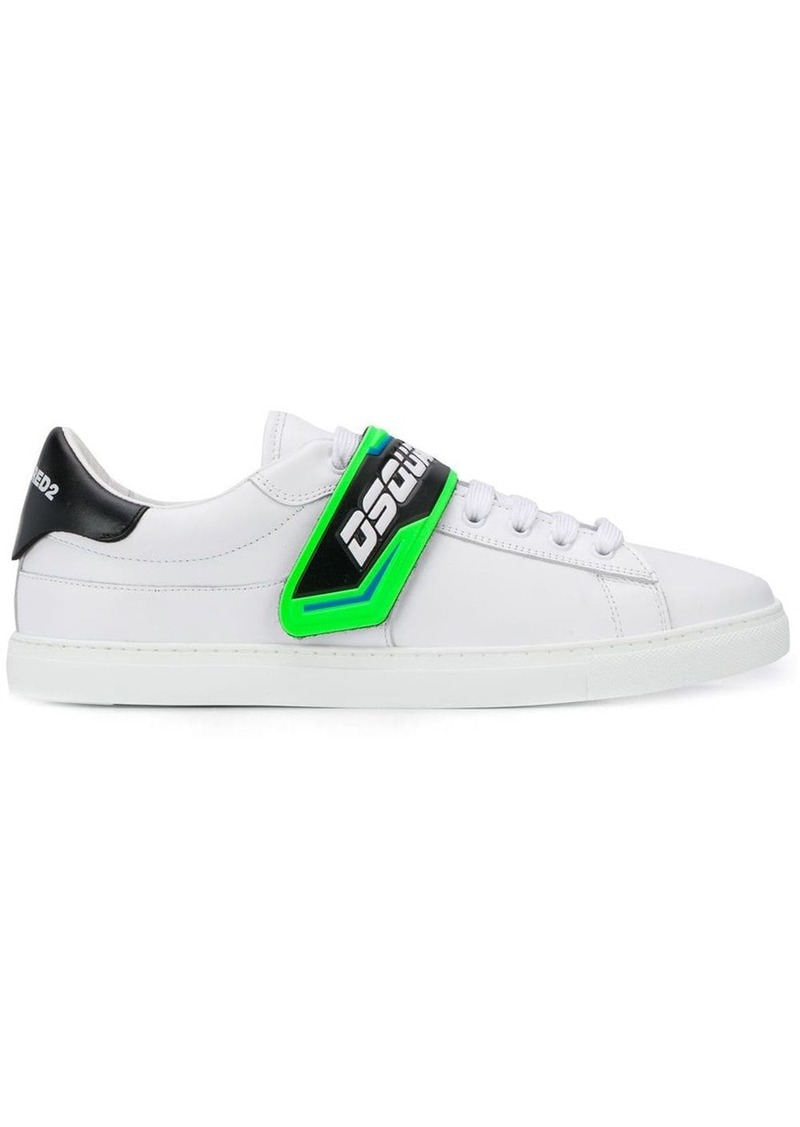 Dsquared2 T-strap logo trainers