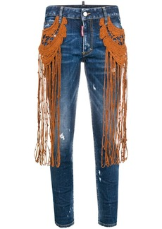 Dsquared2 tassel-embroidered jeans