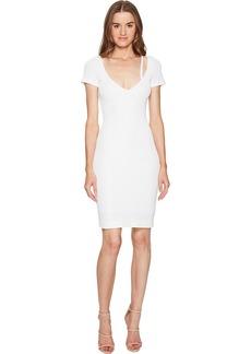 Dsquared2 Textured Viscose Jersey Short Sleeve Dress