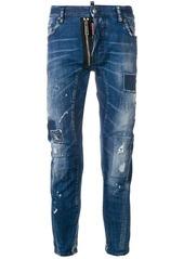 Dsquared2 Tider Biker distressed jeans