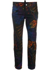 Dsquared2 tie-dye cropped trousers
