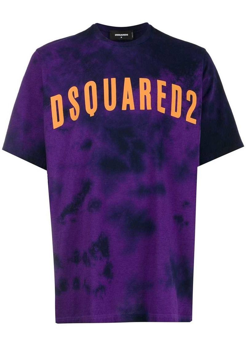 Dsquared2 tie-dye logo print T-shirt