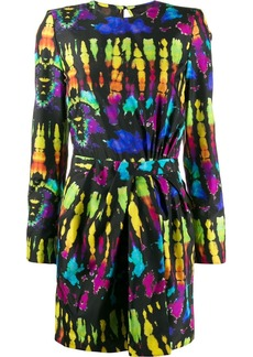 Dsquared2 tie-dye silk mini dress