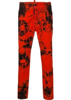 Dsquared2 tie-dye print trousers