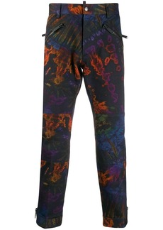 Dsquared2 tie-dye printed trousers