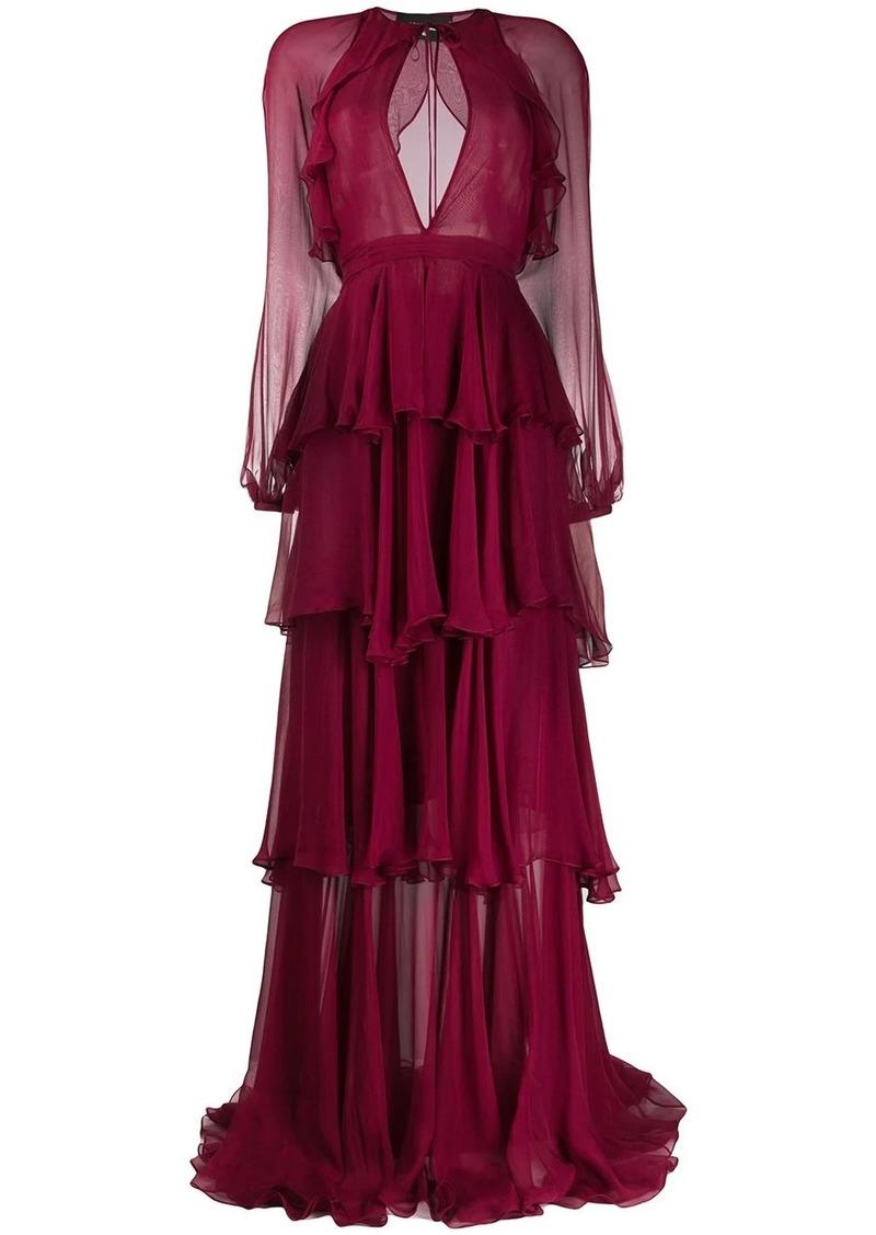 Dsquared2 tiered ruffle dress