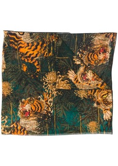 Dsquared2 tiger motif scarf
