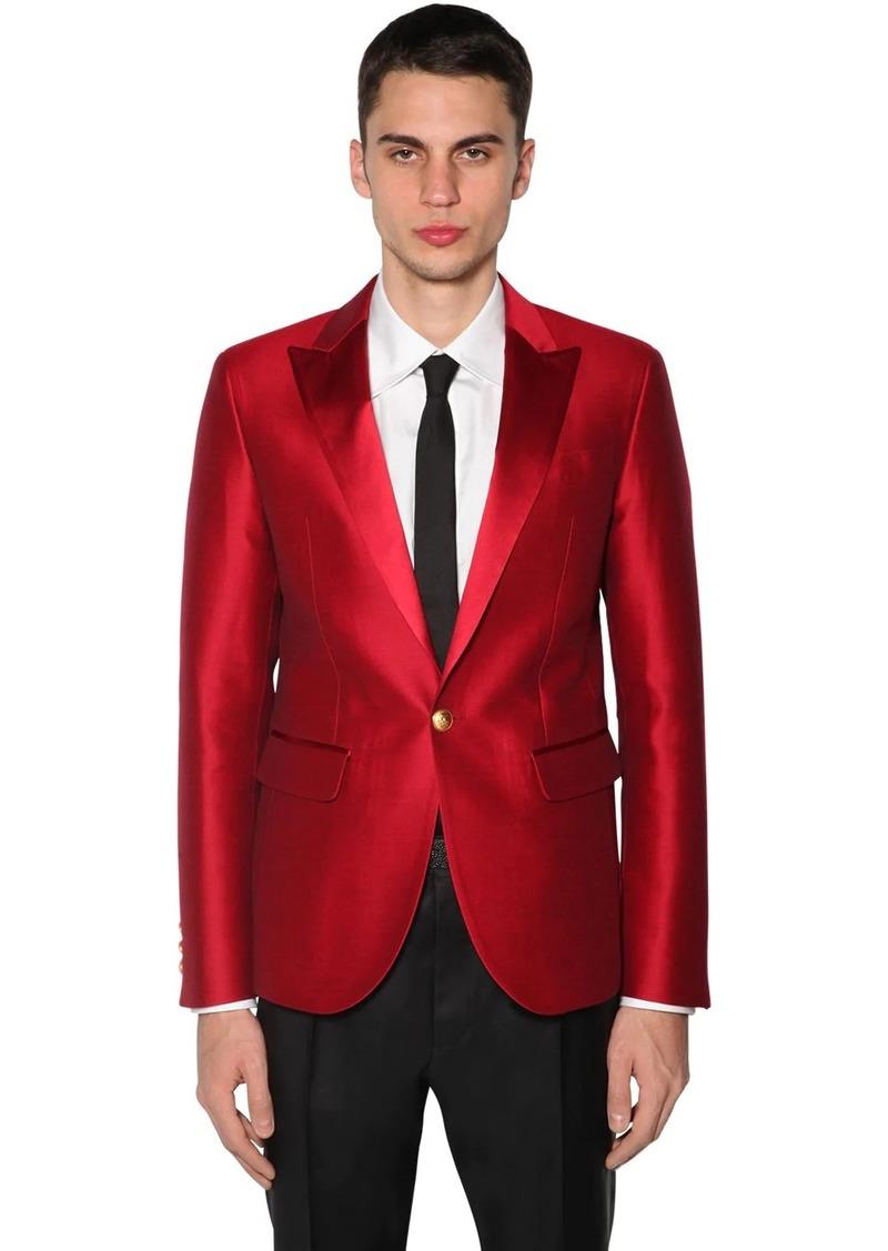 Dsquared2 Tokyo Silk & Wool Lamé Evening Jacket
