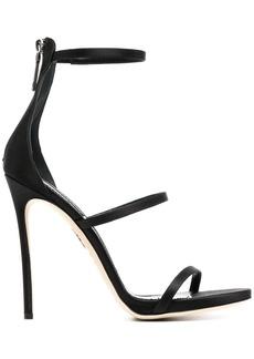 Dsquared2 triple-strap leather sandals