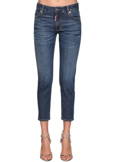 Dsquared2 Twiggy Cropped Denim Jeans
