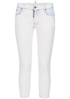 Dsquared2 Twiggy Cropped Denim Skinny Jeans