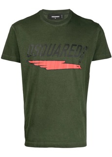 Dsquared2 underlined logo print T-shirt