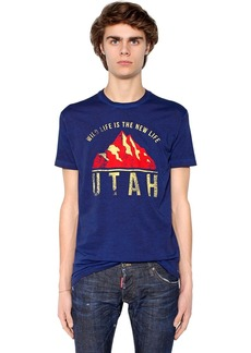 Dsquared2 Utah Printed Cotton Jersey T-shirt