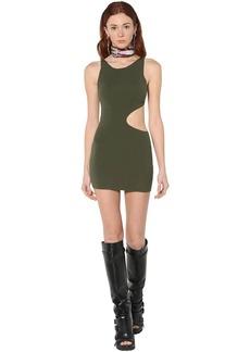 Dsquared2 Viscose Blend Jersey Mini Dress