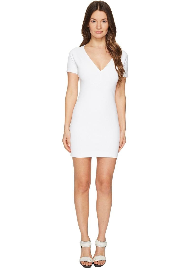Dsquared2 Viscose Piquet Jersey Short Sleeve Dress