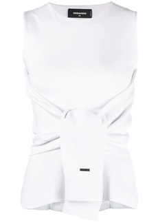 Dsquared2 waist-tied fitted top