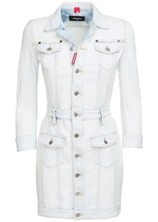 Dsquared2 Washed Cotton Denim Mini Dress