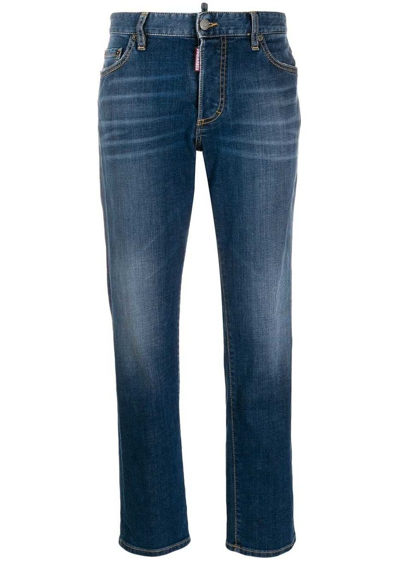 Dsquared2 washed cropped jeans
