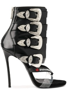 Dsquared2 western buckle boot sandals