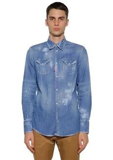 Dsquared2 Western Cotton Denim Shirt