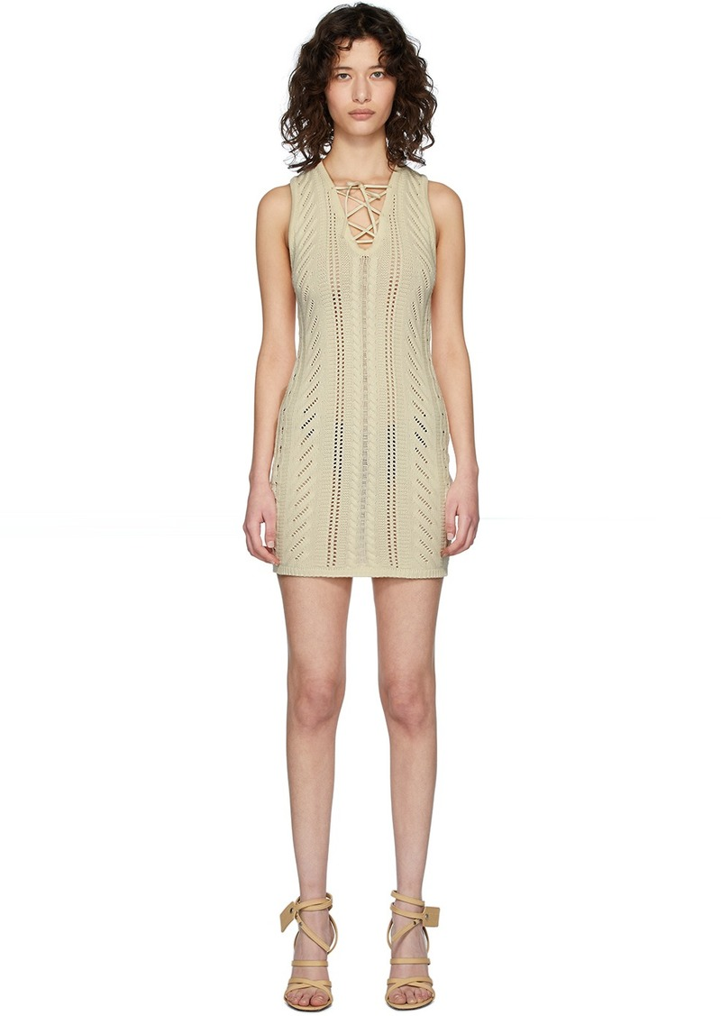 Dsquared2 White Lace-Up Short Dress
