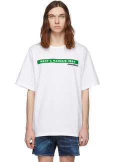 Dsquared2 White Mert & Marcus 1994 Edition Dyed Slouch Fit T-Shirt