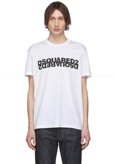 Dsquared2 White Mirrored Logo T-Shirt