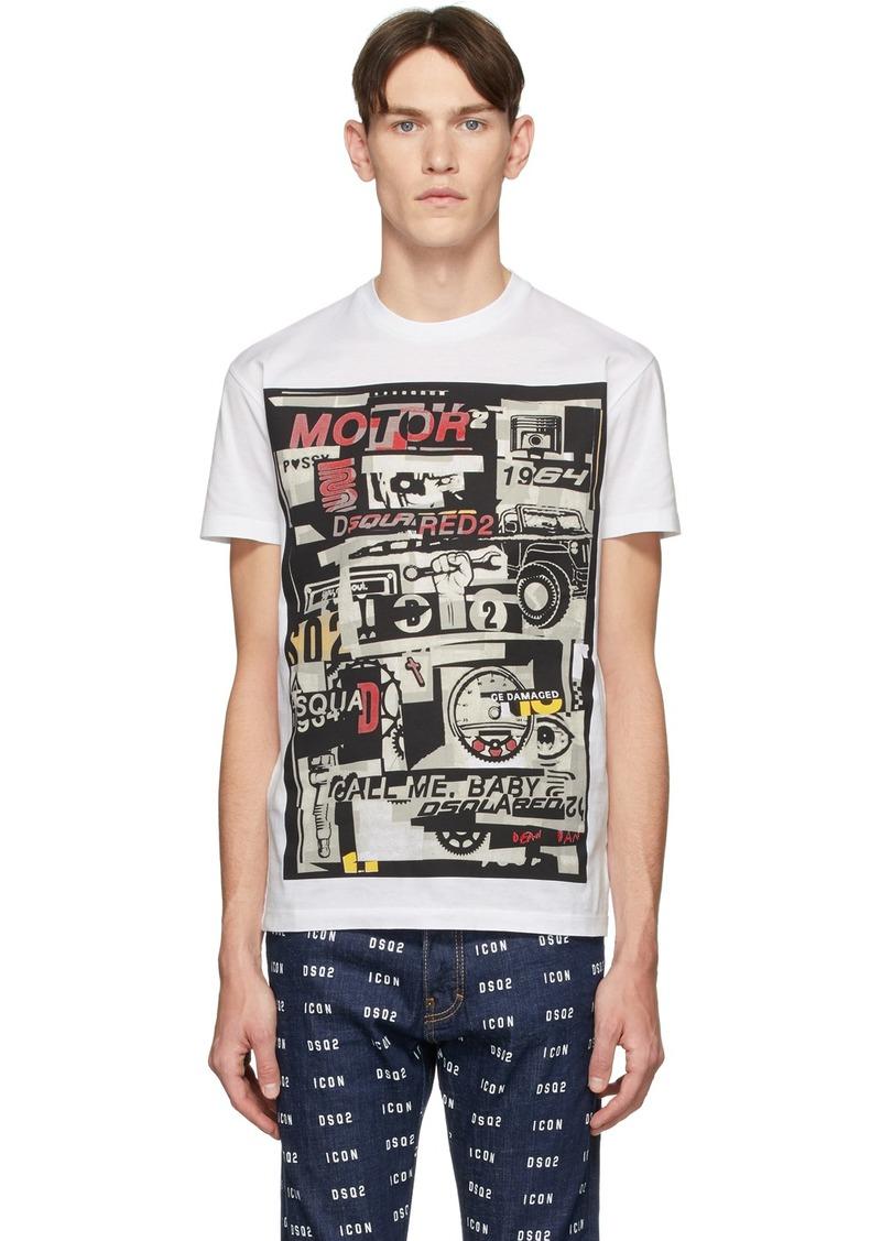 Dsquared2 White Motor T-Shirt