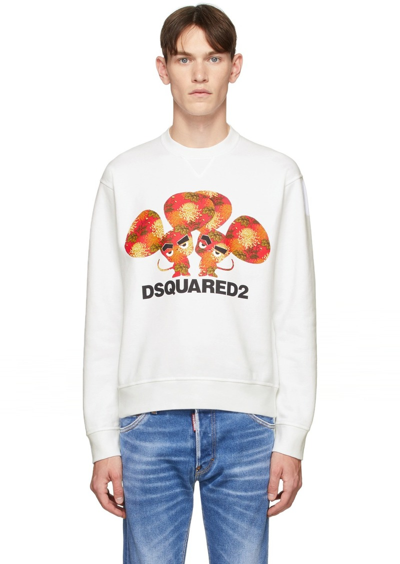Dsquared2 White Mouse Cool Fit Sweatshirt
