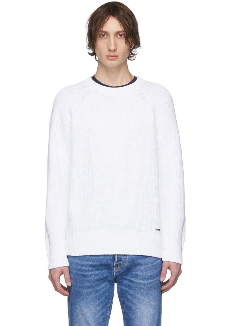 Dsquared2 White Plain Pullover Sweater