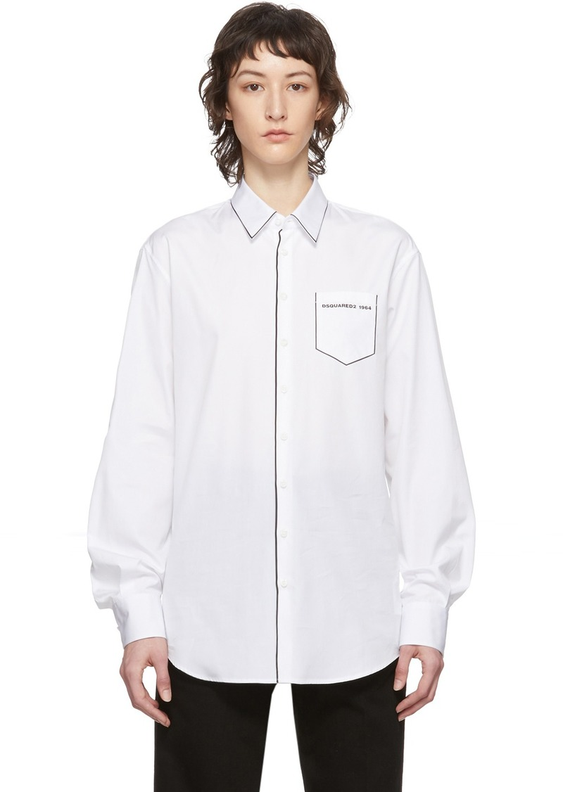 Dsquared2 White Relax Dan Shirt