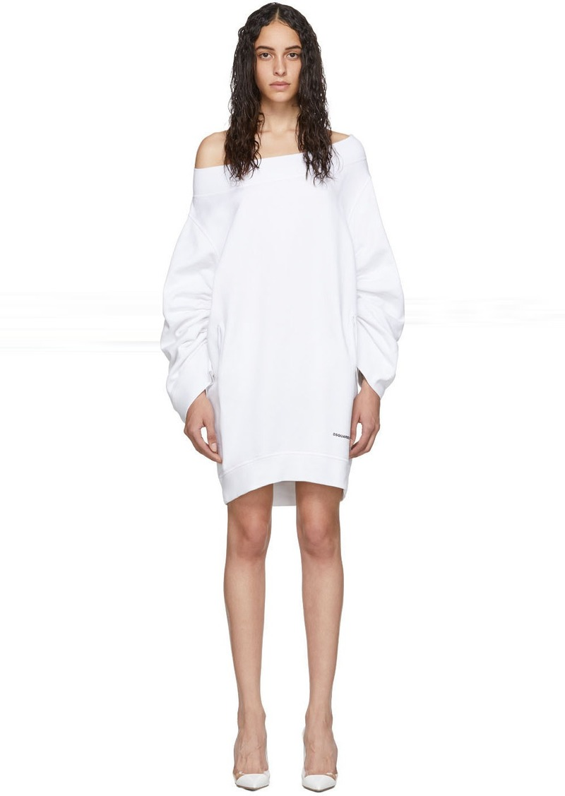 Dsquared2 White Sweater Dress