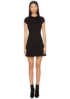 Dsquared2 Wool Jersey Grunge Cap Sleeveless Dress