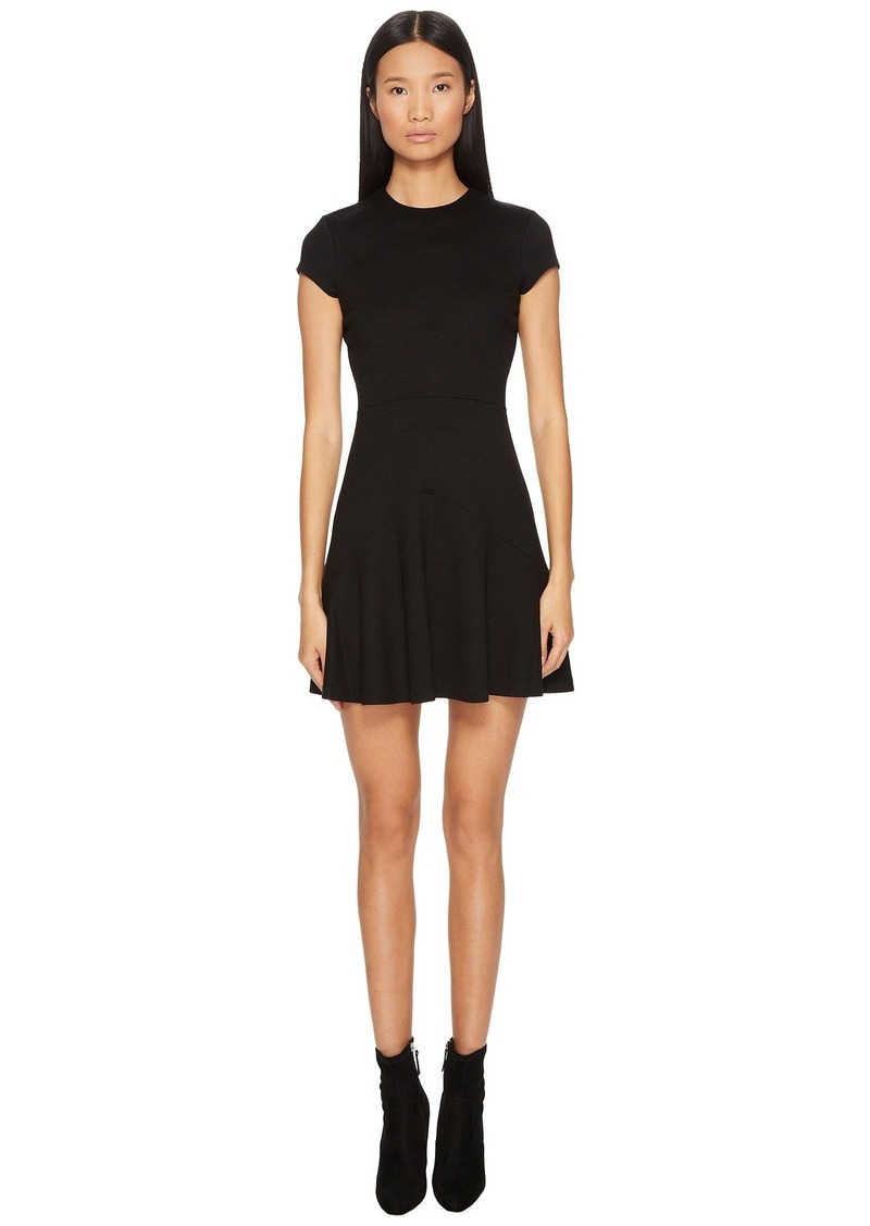 Dsquared2 Wool Jersey Grunge Cap Sleeveless Dress