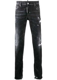 Dsquared2 worked slim jeans