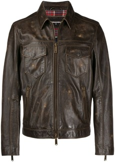 Dsquared2 worn-out effect jacket