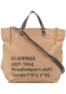 Dsquared2 worn-out effect logo tote bag