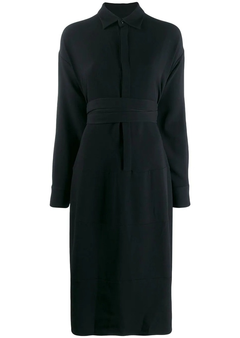 Dsquared2 wrap waist shirt dress
