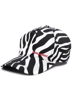 Dsquared2 zebra-print baseball cap