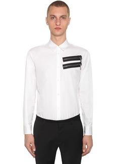 Dsquared2 Zip Cotton Poplin Shirt