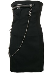 Dsquared2 zip detail mini dress