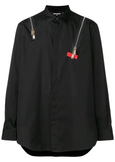 Dsquared2 zip detail shirt