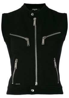 Dsquared2 zip front knitted top