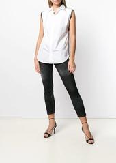 Dsquared2 zip trim sleeveless shirt
