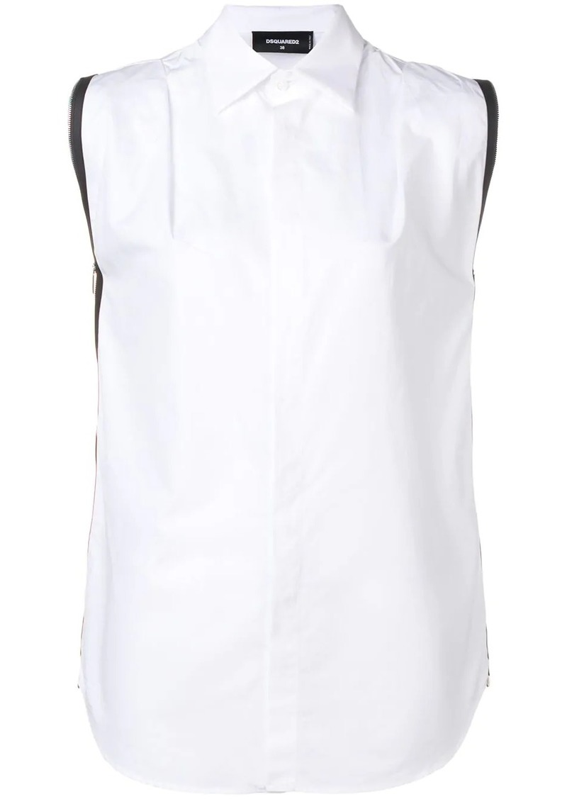 Dsquared2 zip trim sleeveless shirt