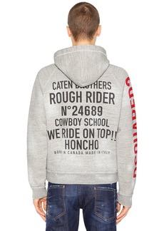 Dsquared2 Zip-up Vintage Jersey Sweatshirt Hoodie